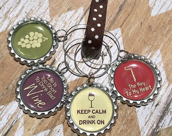 Wine Saying Wine Charms (Set of 4)