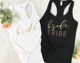 bride tribe tank tops.bachelorette party shirts.bridal party tanks.bachelorette party tanks.bachelorette shirts.bridesmaid tank.Bride shirt.