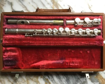 M9012 Vintage Artley Silver Flute with Case