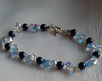 SALE: Swarovski Crystal and Pearl Bracelet