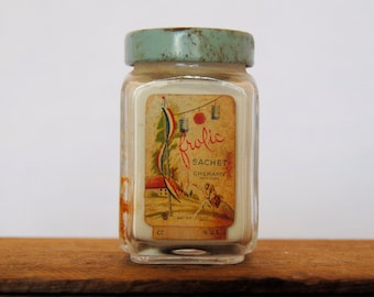 Vintage Frolic Sachet Bottle with Teal Lid