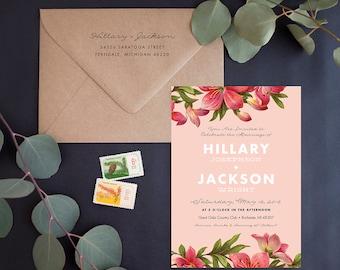 Wedding Invitation Suite Sample - Heirloom Bloom