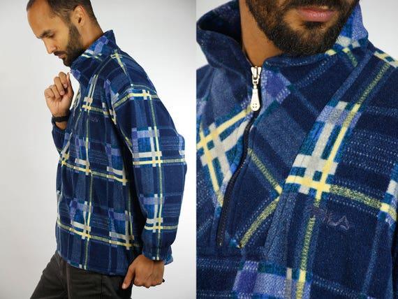 FILA Sweater / Checked Fila Sweater / Warm Fila Sweatshirt / Fila Jumper / Lumberjack / Lumber Sweater / 90s Fila Sweater / Fila Jumper