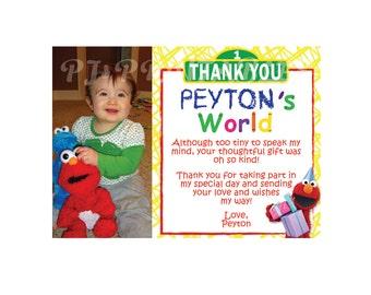 Elmo's World / Sesame Street Thank You Cards- Custom Digital File