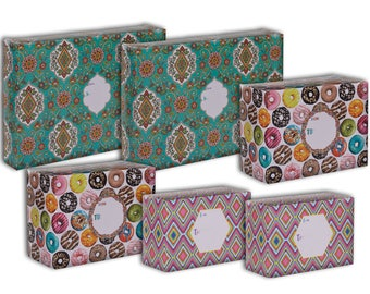 Jillson & Roberts Design Mailing Box Assortment, Graphic (6 Pieces)