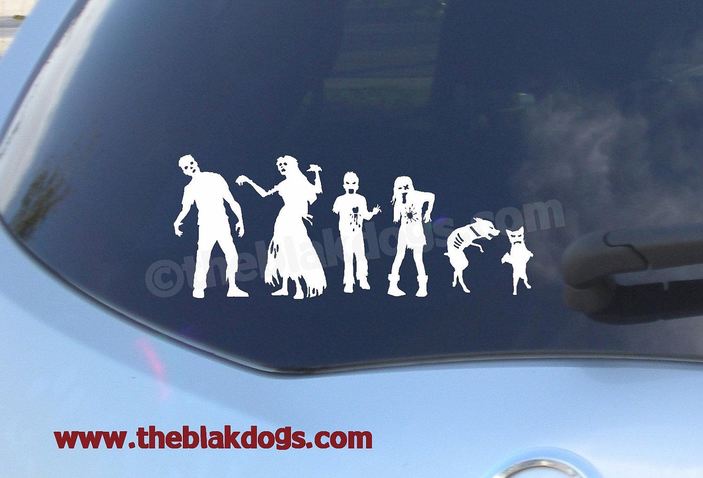 Zombie Stick Figure Family, Custom sticker, Vinyl Sticker, Car Decal,  Zombie Family, personalized zombie family