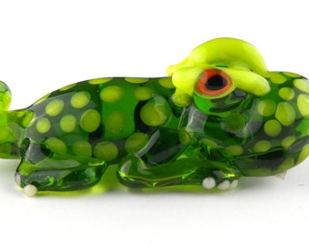 Sculptural Lizard Lampwork Glass Bead by Chase Designs