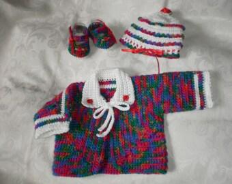 Nouveau-né / Reborn à 3 mois enneigés infantile pull veste ensemble