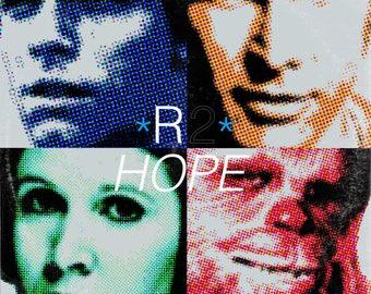 Star Wars (Han Solo Luke Skywalker Princess Leia Chewbacca)/U2 Pop 'Vinyl Record Album Cover' Mash Up Parody Art Print