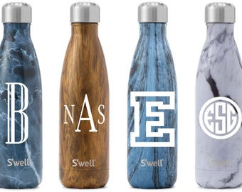 S'well Water Bottle with Personalized Custom Monogram or Name