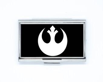 Business & Credit Card Case REBEL ALIANCE logo star wars Stainless Steel Metal Pocket Box holder