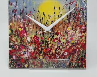 Ceramic Handmade Clock. Quartz Clock Movement..