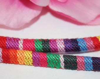 1 m cord 6mm multicolored ethnic - SC59870 - cotton
