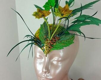Green Ivy Fascinator Hat//Fascinator Hat//Fascinator//Hat//Mini Hat//Green Fascinator//Wedding Fascinator//Derby Fascinator/Party Fascinator