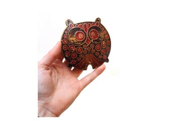60s Lee Bernay Owl Belt Buckle