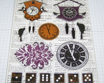Kaisercraft-13th Hour-Printed Chipboard