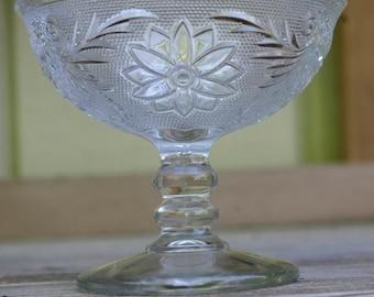 Indiana Tiara Clear Sandwich Glass Sherbet