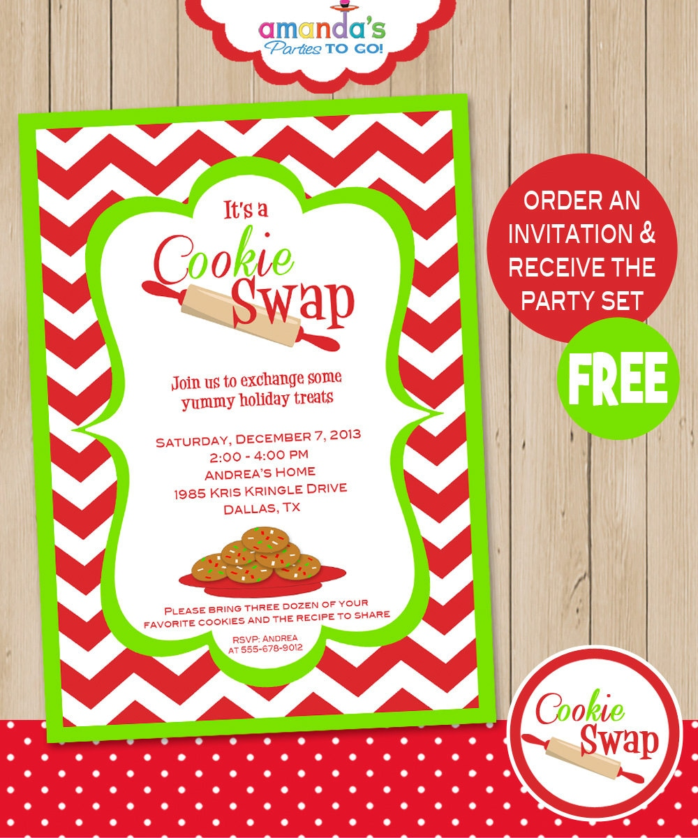 Cookie Swap Party Invitation Includes FREE Instant Download