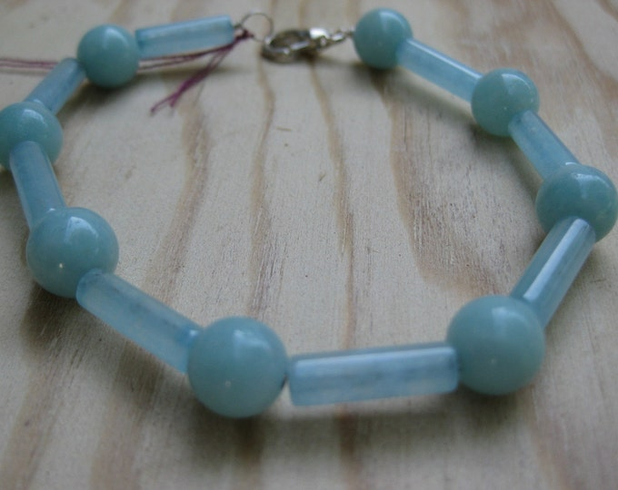 Insouciant Studios Harbour Bracelet Sterling Silver and Amazonite
