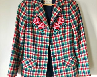 Vintage Plaid Wool Hunting Jacket