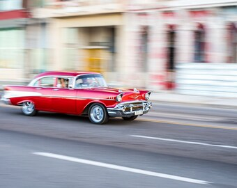 Havana Cuba Photography, Cuban Car, Havana Print, Havana Photo, Havana Poster, Havana Cuba, Cuban Art Print, Classic Car Prints, Cuba Poster
