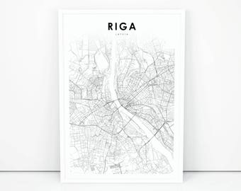 Latvia map Etsy