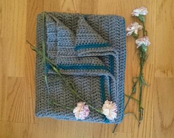 Striped Crochet Lap Blanket