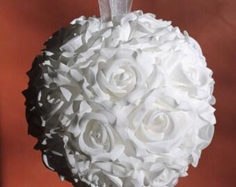 """Kissing Balls, 8"""" Silk Rose Flower Pomander"""