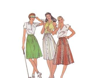 70s A-Line Skirt pattern 40-32-42 color block large size skirt sale waist 32 butterick 3672
