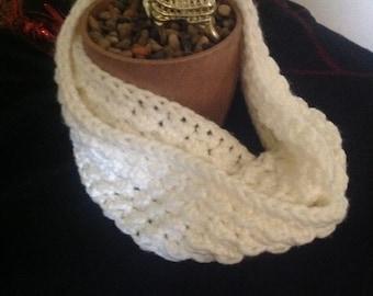 Fluffy cloud chunky infinity scarf