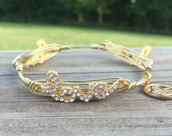 Bourbon and Boweties Inspired Wire Wrap Bangle   Love Me Like You Do