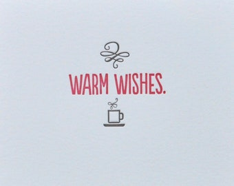 Warm Wishes Letterpress Holiday Card & Envelope