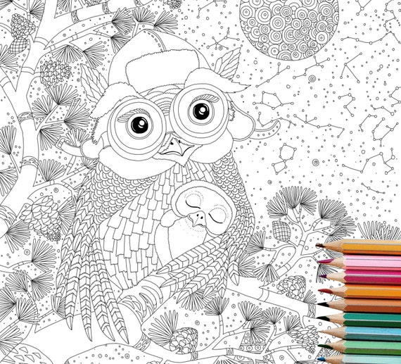 Coloring Pages OWL Digital Downloadanimal Book