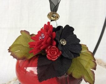 Glass HALLOWEEN ORNAMENT -  DRACULA'S bouquet