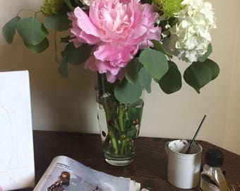 Pastel raised dot vase