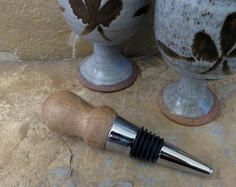 SALE - Bottle Stopper - Hand Turned Wood - Gambel Oak