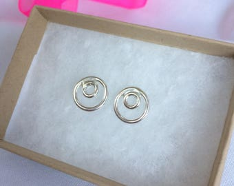 Sterling Silver Bubbles Studs Handmade