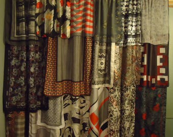 Shades of Charcoal Gray Gypsy Boho Curtains - 63""