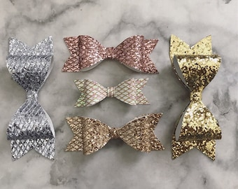 Set of 3 Sparkly Bow Clip with Combo