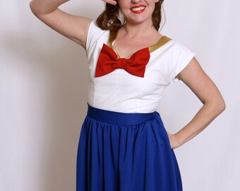Sailor Moon inspired 1950s dress! Circle skirt with pockets!