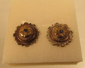 Vintage Cortez Mexico  Earrings Sterling Brass @ A Village Coin Bullion 4/1/13 B