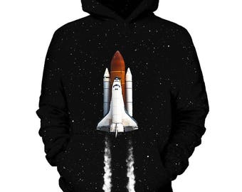 Space Ship Galaxy Hoodie | Rave, EDM, Festival Hoodie