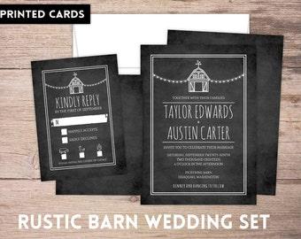 Wedding Invitations, Wedding Invitation, Personalized, Wedding Invites, RSVP card, RSVP's, Wedding invitation set, rustic barn