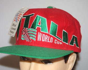 Italia World Cup Apex One Snapback Cap Vintage 1994