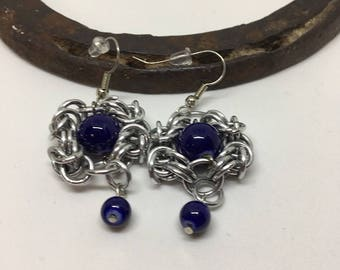 Chain Maille Earrings, earrings, jewelry, handcrafted jewelry, romanov style, byzantine