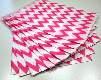 Pink Chevron Goodie Bags