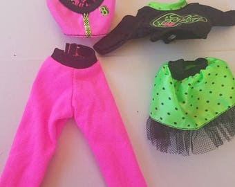 vintage 80's Barbie outfits