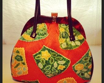 Vintage 1950's Japanese Obi Silk Handbag