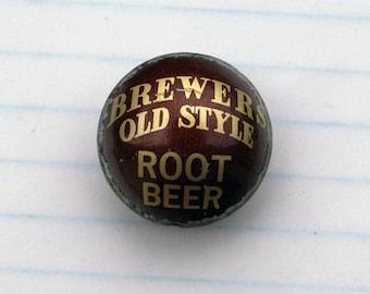 Vintage Root Beer Bottle Cap Bead