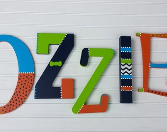 Name Letters - Kids Name - Wall Initials - Mixed Font